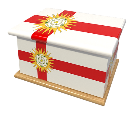 Personalised Custom Cremation Ashes Caskets COUNTRY AND BRITISH COUNTY FLAGS WEST RIDING YORKSHIRE