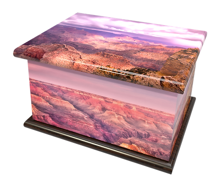 Custom Personalised Bespoke Cremation Ashes Casket GRAND CANYON
