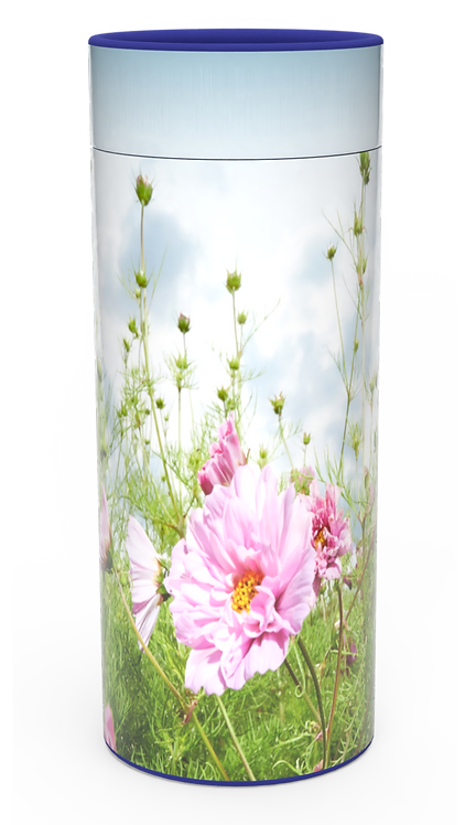 Custom Personalised Funeral Cremation Ashes Casket Urn Floral Flower Designs  WILD MEADOW