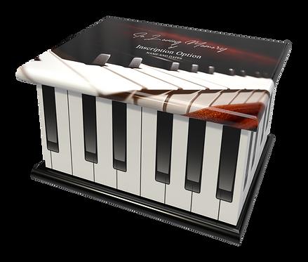 Custom Personalised Cremation Ashes Casket Urn PIANO ORGAN KEYBOARD