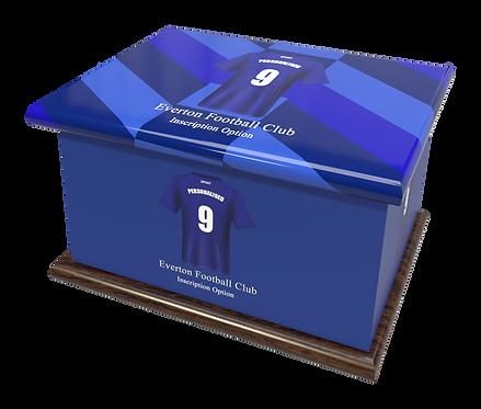 Custom Personalised Cremation Ashes Casket Urn FOOTBALL TEAM EVERTON