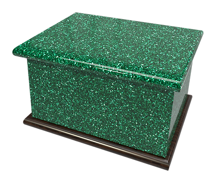 Ashes Casket GLITTER GREEN