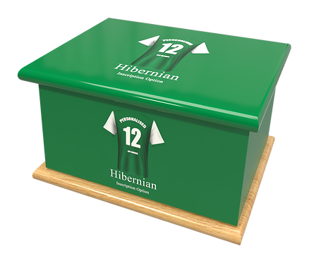 Custom Personalised Cremation Ashes Casket Urn FOOTBALL TEAM HIBERNIAN
