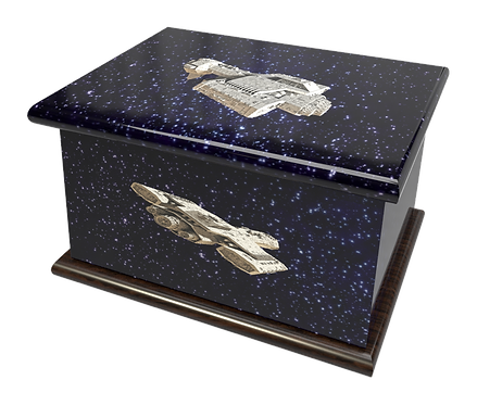 Personalised Custon Cremation Ashes Casket and Keep-Sake in STAR WARS SPACE ALIENdesign