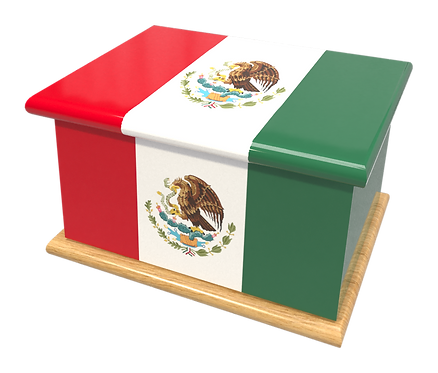 Personalised Custom Cremation Ashes Caskets COUNTRY AND BRITISH COUNTY FLAGS MEXICO SOUTH AMERICAN