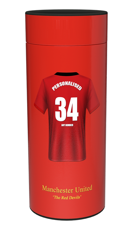 Custom Personalised Cremation Ashes Casket Urn Scatter Tube FOOTBALL TEAM MANCHESTER UNITED
