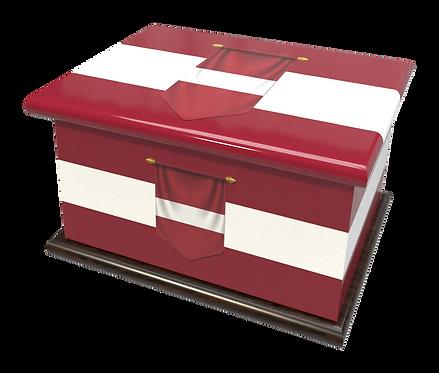 Personalised Custom LATVIA LATVIAN FLAG Cremation Ashes Casket