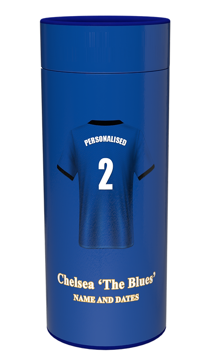 Custom Personalised Cremation Ashes Casket Scatter Tube CHELSEA FC