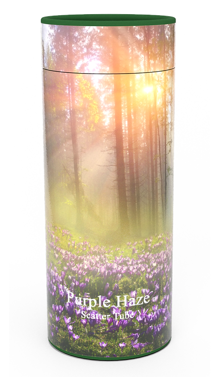 Custom Personalised Funeral Cremation Ashes Casket Urn Floral Flower Designs  PURPLE HAZE