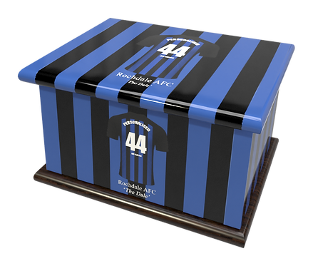 Personalised Custom Cremation Ashes Caskets ROCHDALE  FOOTBALL CLUB THE DALE
