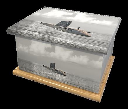Custom Personalised Cremation Ashes Casket Urn ROYAL NAVY SUBMARINE