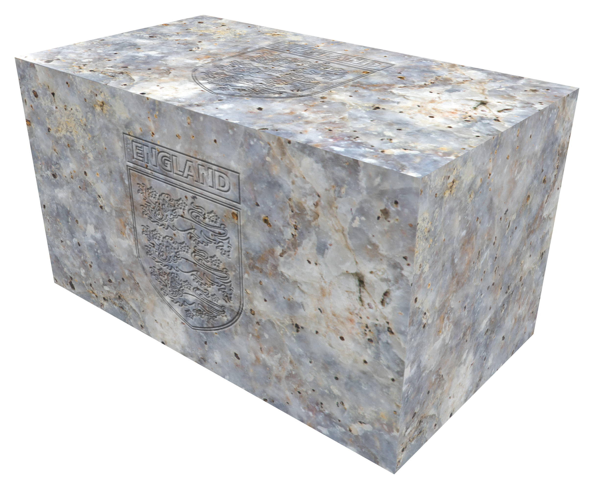 Ashes Casket Urn KASHMIR WHITE with Engr