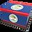 Custom Personalised Ashes Casket in a BELIZE FLAG design