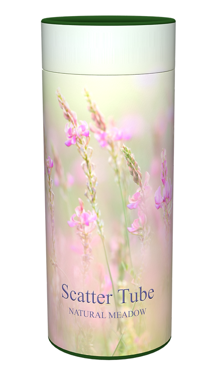 Custom Personalised Cremation Ashes Casket Scatter Tube FLORAL MEADOW