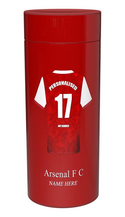 Custom Personalised Cremation Ashes Casket Urn FOOTBALL TEAM ARSENAL FC THE GUNNERS