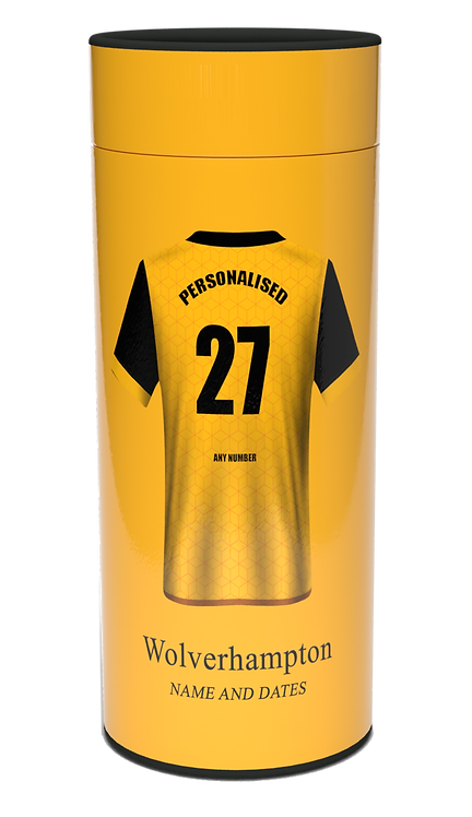 Custom Personalised Cremation Ashes Casket Urn FOOTBALL TEAM WOLVERHAMPTON