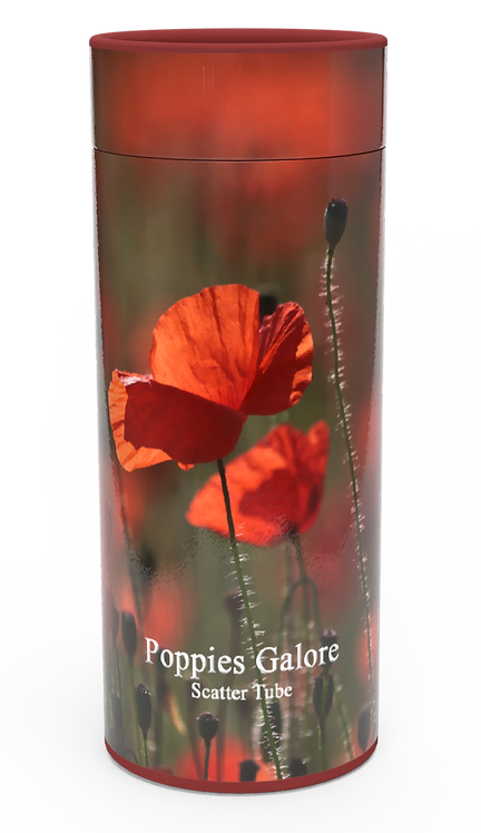Custom Personalised Funeral Cremation Ashes Casket Urn Floral Flower Designs  POPPIES GALORE