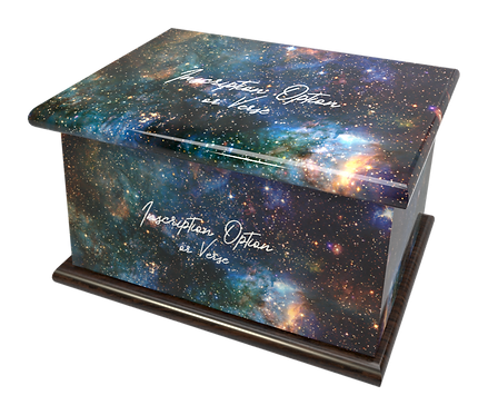 Space Universe Galaxy Stars Planets personalised Ashes Caskets and Urns