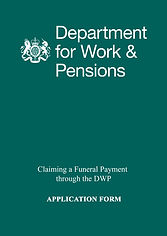 DWP FUNERAL PAYMENT APPLICATION FORM