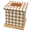 Thumbnail: Pet Ashes Casket GINGHAM TOFFEE