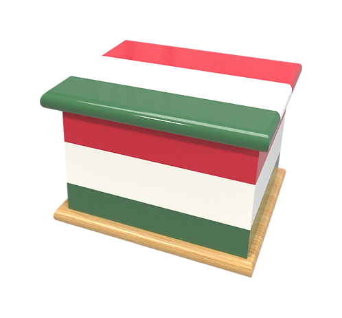 Personalised Custom HUNGARIAN HUNGRY FLAG Cremation Ashes Casket