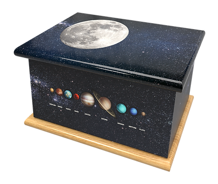 Custom Personalised Cremation Ashes Casket Urn SPACE UNIVERSE SOLAR SYSTEM