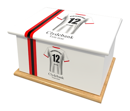 Custom Personalised Cremation Ashes Casket Urn FOOTBALL TEAM CLYDEBANK