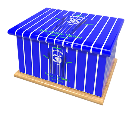 Custom Personalised Cremation Ashes Casket Urn FOOTBALL TEAM WIGAN ATHLETIC
