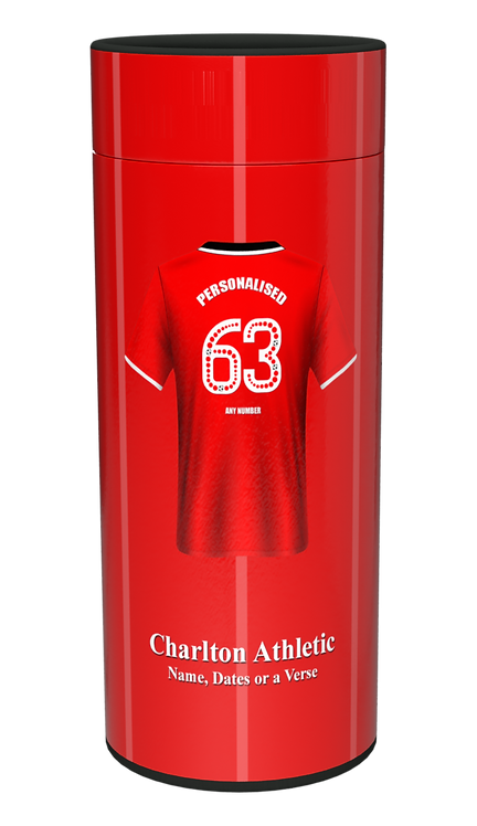 Custom Personalised Cremation Ashes Casket Urn FOOTBALL TEAM CHARLTON ATHLETIC