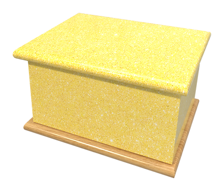 Ashes Casket GLITTER CANARY