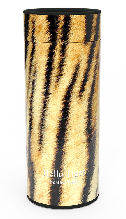 Custom Personalised Funeral Cremation Ashes Casket Urn Hobby Sport Interest TIGER PRINT
