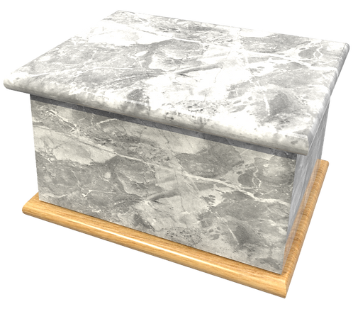 Personalised Custom Cremation Ashes Caskets and Keep-Sake Urns in natural stone GRANITE MARBLE effect design