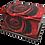 Personalised Custom FLORAL RED ROSE Cremation Ashes Casket and Keep-Sake Urns
