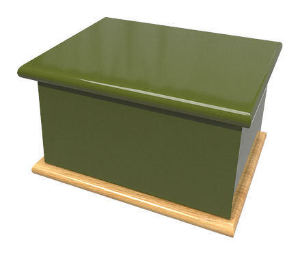 Custom Personalised Bespoke Cremation Ashes Casket OLIVE GREEN