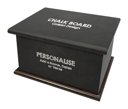 Custom Personalised Cremation Ashes Caskets Containers and Urns CHALK BALCK BOARD
