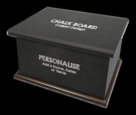 Cutsom Personalised Ashes Casket in Chalk Baord, Black Board, School design