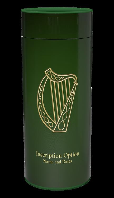 Custom Personalised Cremation Ashes Casket Urn Scatter Tube IRISH HARP