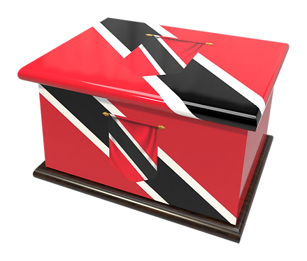 Personalised Custom Cremation Ashes Caskets COUNTRY AND BRITISH COUNTY FLAGS TRINIDAD
