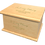 Personalised Custom LIGHT OAK Wood Effect Cremation Ashes Casket