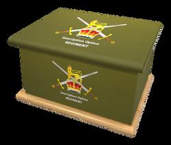 Ashes Casket BRITISH ARMY (OAK BASE)