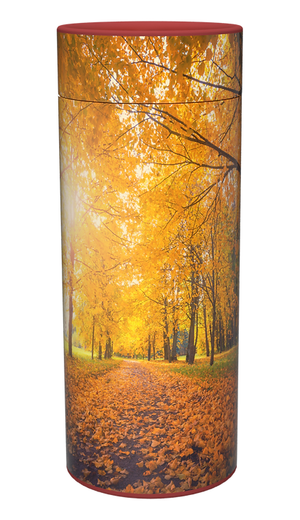 Custom Personalised Cremation Ashes Casket urn Scatter Tube AUTUMN WOODLAND FOREST