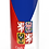 Personalised Custom Bespoke Ashes Scattering Tube Urn for Cremated Remains in four sizes CZECH REPUBLIC FLAG
