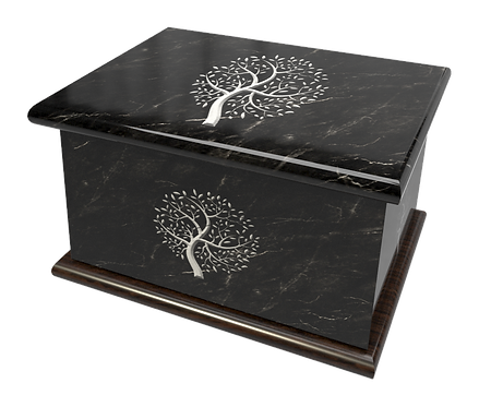 Custom Personalised Cremation Ashes Casket Urn MARBLE, GRANITE, TREE OF LIFE