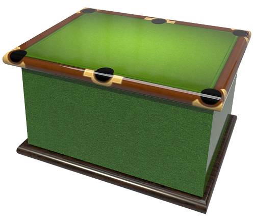 Snooker Pool Billiards Ashes Caskets and Urns personalised with inscription