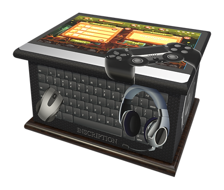 Custom Personalised Cremation Ashes Casket Urn GAMING COMPUTER GAME PLAY STATION XBOX
