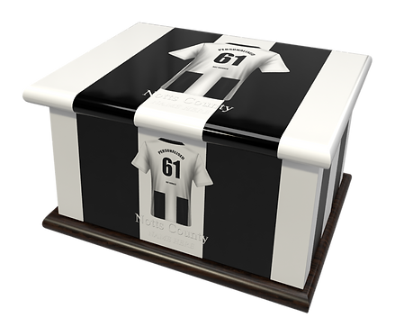 Custom Personalised Cremation Ashes Casket Urn FOOTBALL TEAM NOTTS COUNTY