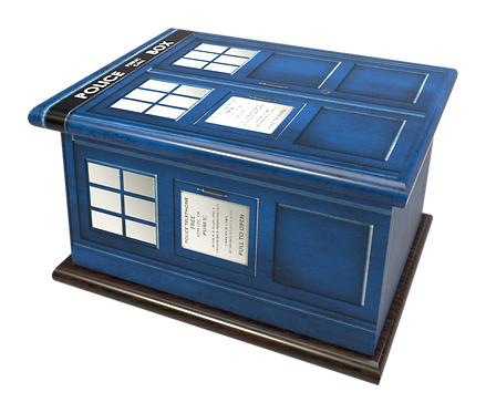 Custom Personalised Ashes Caskt POLICE BOX DR WHO TARDIS design