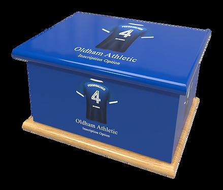 Custom Personalised Cremation Ashes Casket Urn FOOTBALL TEAM OLDHAM ATHLETIC