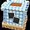 Thumbnail: Pet Ashes Casket GINGHAM POWDER BLUE
