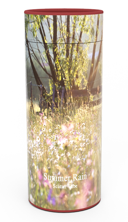 Custom Personalised Funeral Cremation Ashes Casket Urn Floral Flower Designs  SUMMER RAIN